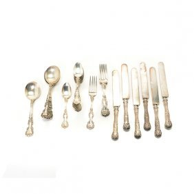 Whiting Sterling Flatware Service And Six International