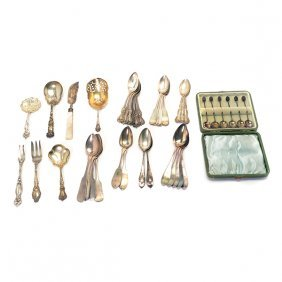 Collection Of Sterling And Coin Silver Flatware