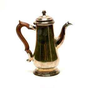 Chinese Export Sterling Coffee Pot
