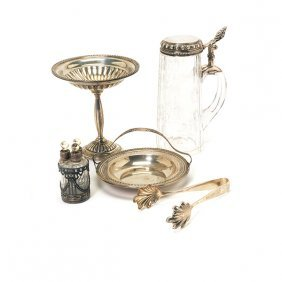 Continental Etched Glass Stein, Three Piece Perfume