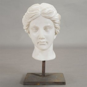 After The Antique, Italian Carrara Marble Bust Of A