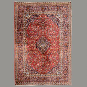 Kashan Carpet: 8 Feet 1 Inch X 11 Feet 2 Inches