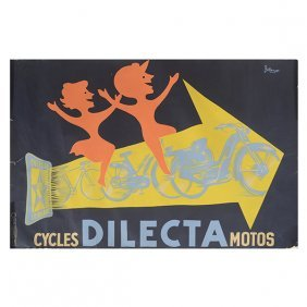 Jacques-pierre Bellenger Dilecta Motorcycle Lithograph