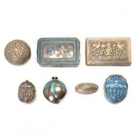 Seven Silver Boxes, Early 20th Century