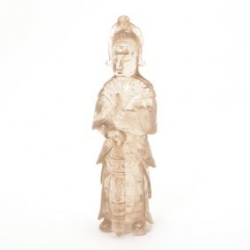 A Rock Crystal Figural Carving, Late 19th/early 20th