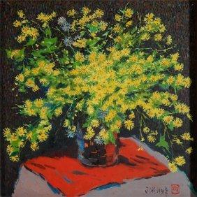 Pang Jiun (b. 1936): Wild Chrysanthemums