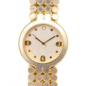 Harry Winston Two-tone 18k Gold Wristwatch.
