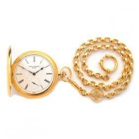 Patek Philippe 18k Yellow Gold Pocket Watch With Patek