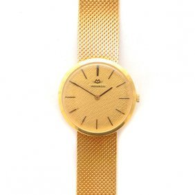 Movado 18k Yellow Gold Wristwatch.