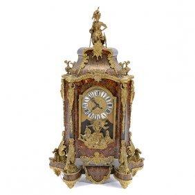 Charles X Gilt Bronze Mounted Boulle Mantel Clock