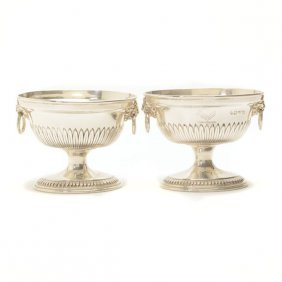 Pair Of George Iii Sterling Compotes, George Smith Iii