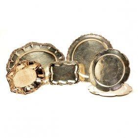 Six Colombian Sterling Or 900 Standard Silver Platters