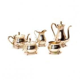 Gorham Five Piece Sterling Silver Coffee & Tea Service
