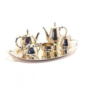 International Royal Danish Sterling Five Piece Tea