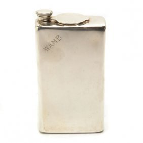 Cartier Traveling Sterling Silver Flask Set