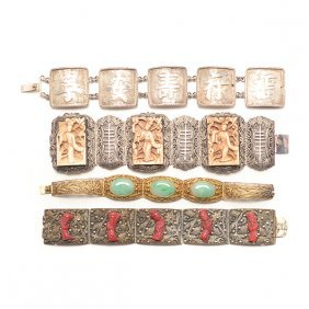 Four Silver Bracelets, Early 20th Century