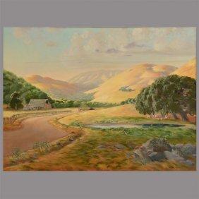 "Arthur Stewart Jr. ""marin Hills"" Oil On Canvas."