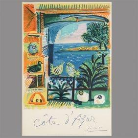 """Pablo Picasso """"cote D'azur"""" Poster."""