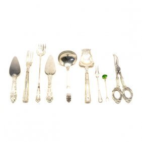 Collection Of Sterling And Silver Flatware