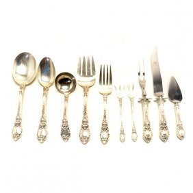Lunt Charles Ii Sterling Silver Flatware Service