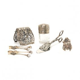 French Silver Mounted Jar And A Pair Of Asparagus