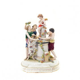 Capodimonte Porcelain Figural Group Of A Marriage