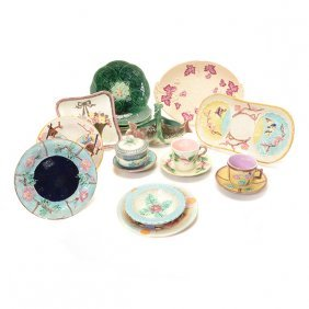 Collection Of Majolica Pottery Items