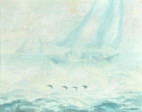 L. Mirman (20th Century) Foggy Day, Oil On Board,