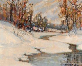 Charles William Duvall (1865-1966) Snow Scene, Oil