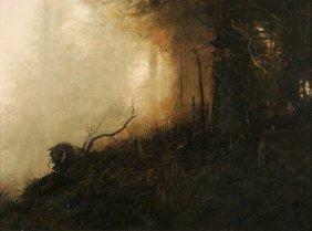 Michael Coleman (b.1946) Wolf Creek, Oil On Board,