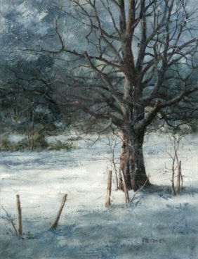 Phil Metzger (20th Century) Winter Scene With Tree,