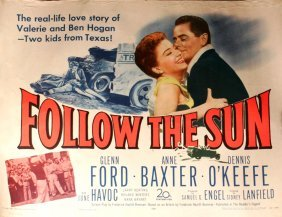 An Original Vintage Movie Poster For 'Follow The Su