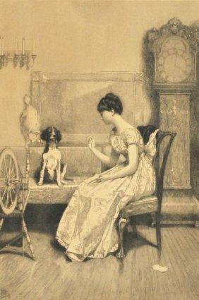 Jean Leon Gerome Ferris (1863-1930) Interior Scene