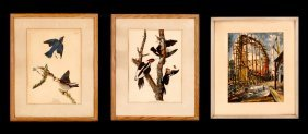 A Group Of Three Framed Decorative Prints,