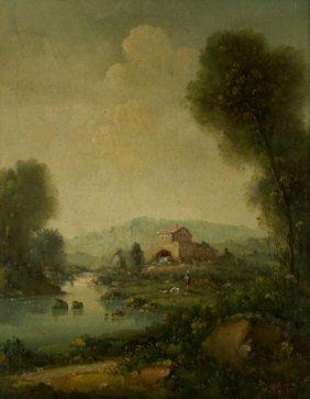 C. Patin (20th Century) Pastoral Landscape, Oil On C