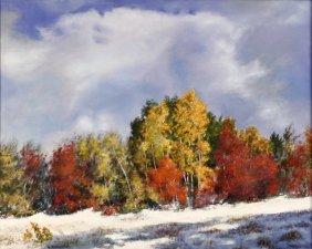 W. Alonzo Allen (20th Century) Winter Landscape, Oi