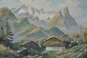 Artist Unknown (19th/20th Century) Mountain Landsca