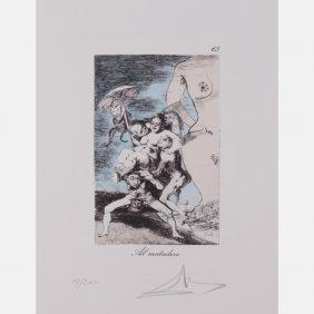 Salvador Dali (1904-1989) Al Matadero, Etching In