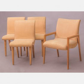 A Group Of Four Chairs By Russel Wright For Conant