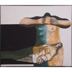 Thompson Lehnert (b. 1931) Pieta, Polymer On Canvas,