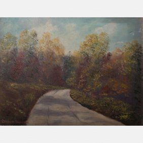 Carson Anderson (20th Century) Country Road, Oil On