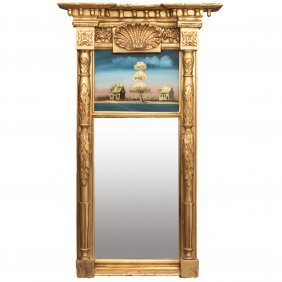 An American Federal Gilt Carved Pier Mirror With