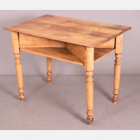 An American Maple Table, 19th Century.