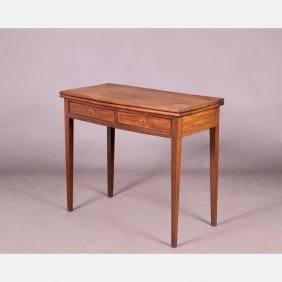 An American Mahogany Card Table, 18th Century.
