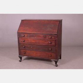 A Queen Anne Style Mahogany Slant Front Desk, 20th