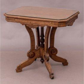 An Eastlake Style Walnut Table, 19th/20th Century,