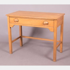 A Vintage Painted Wood Desk, 20th Century.