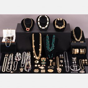 A Miscellaneous Collection Of Costume Jewelry, C.