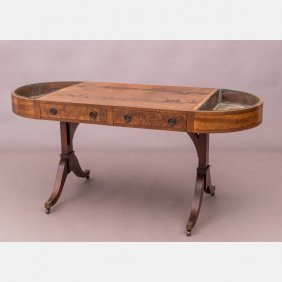 A Sheraton Style Mahogany Library Table
