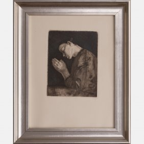 Kathe Kollwitz (german, 1867-1945) Betendes Madchen